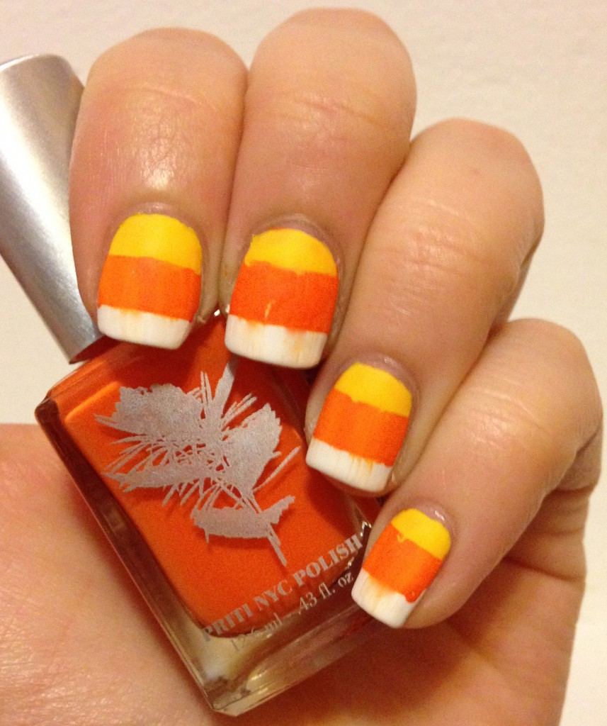 Halloween Week | Candy Corn Nail Art | Adventures in ...